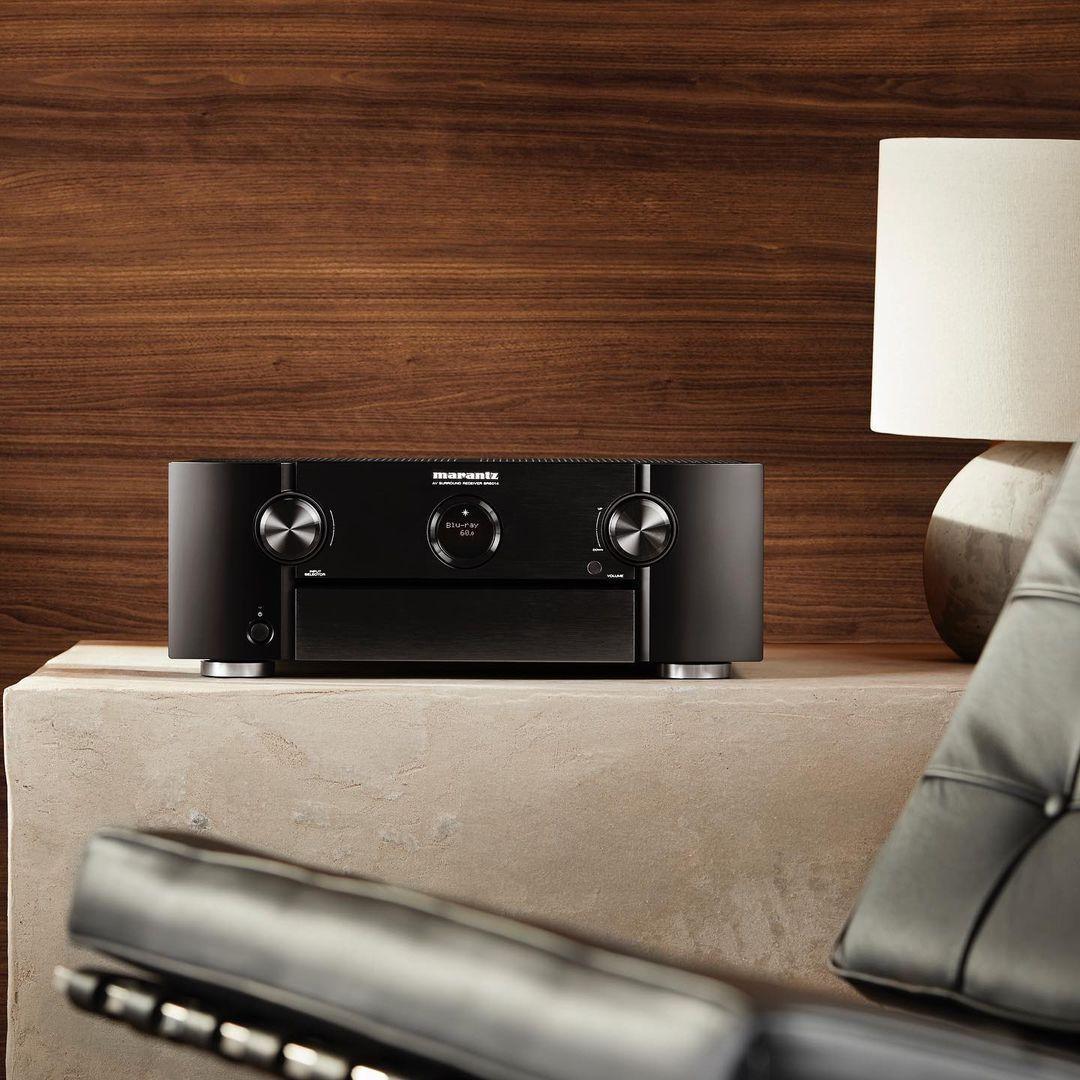Marantz audio speler op een bijzet tafel